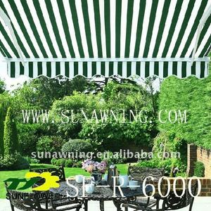 Waterproof stripes polyester fabric awning
