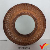 antique fashion shaving round metal wall mirror