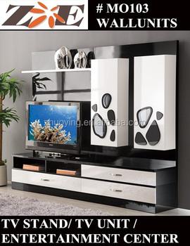 Modern Design Living Room Tv Set Furniture, Tv Wall Units Wooden Tv Cabinet  Designs