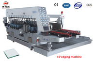 glass machinery to polish edge, 45 degree glass double edging polishing machine