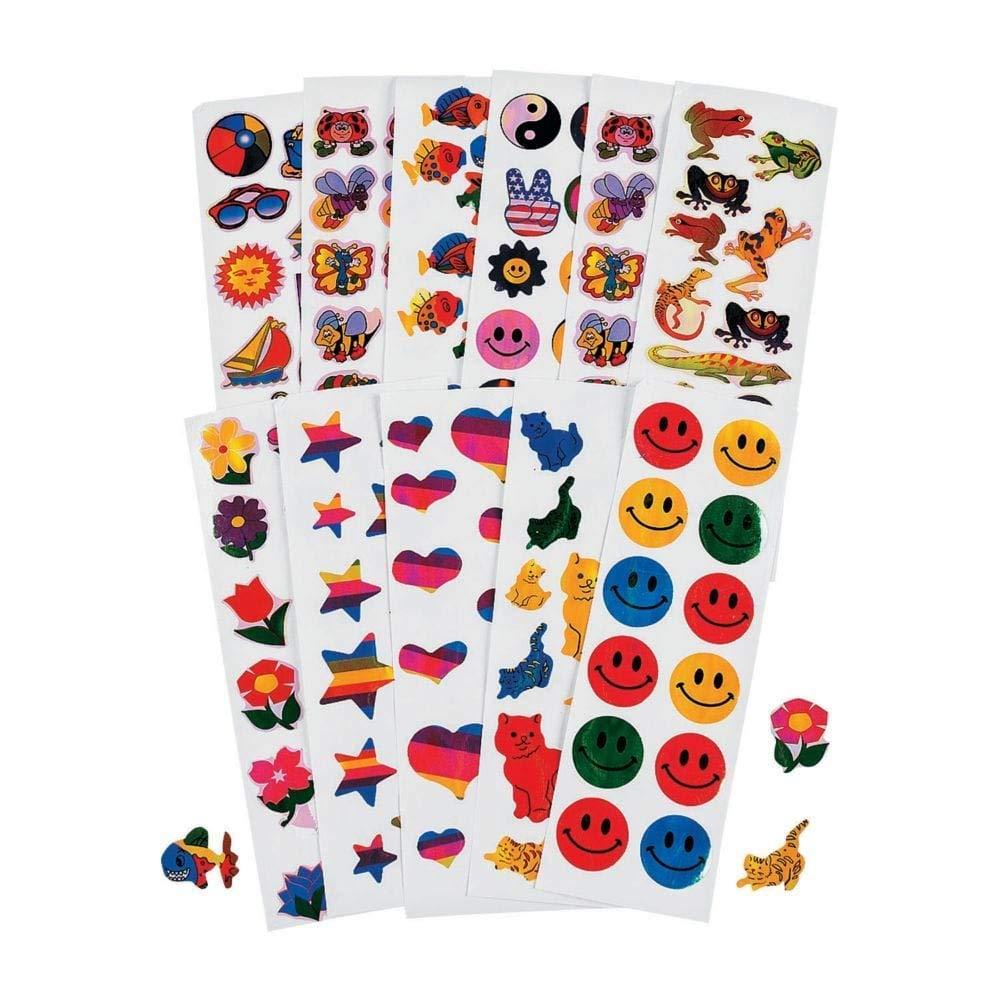 """500 Sheet ~ Mega Iridescent Sticker Assortment ~ 12 Stickers Per Sheet / 6000 Stickers Total ~ Stickers 1/2"""" to 1 3/8"""" ~ New"""