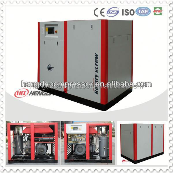 Industrial 100HP screw air compressor with 10Bar air compressor check valve