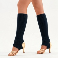 Calentadores de pierna para mujer, de punto para baile, wholesale knitted women ballet dance leg warmers for girls