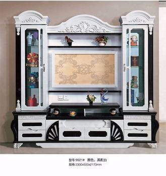living room furniture lcd tv wall units wood new model tv cabinet
