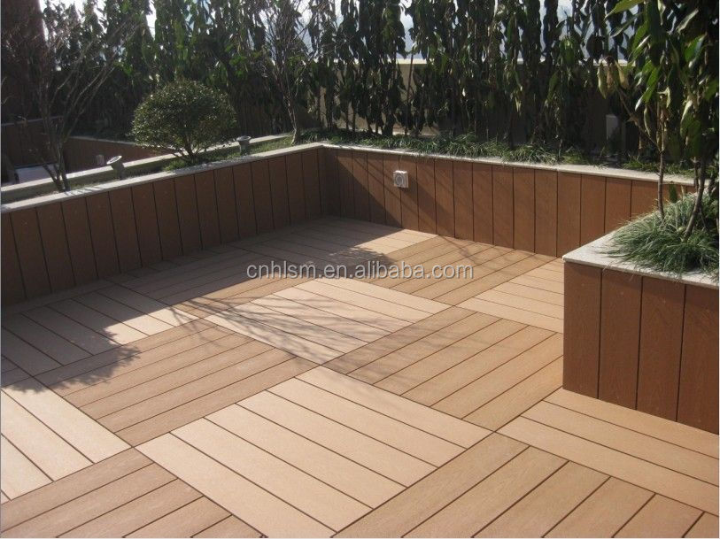 Green environmental protection Direct selling composite wood decking wpc decking