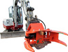 Excavator hydraulic shears, tree shear, tree branch cutter grapple