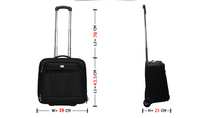 Roller Laptop Case for 17.3 Laptop Rolling Laptop Computer Bag Wheeled Business Briefcase Small Travel Carry-ons Black