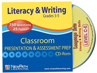 NewPath Learning Mastering Literacy and Writing Interactive Whiteboard CD-ROM, Site Licenses, Grade 3-5
