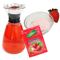 Ice Popsicle Raw Material Fruit Flavored Instant Strawberry Juice Powder