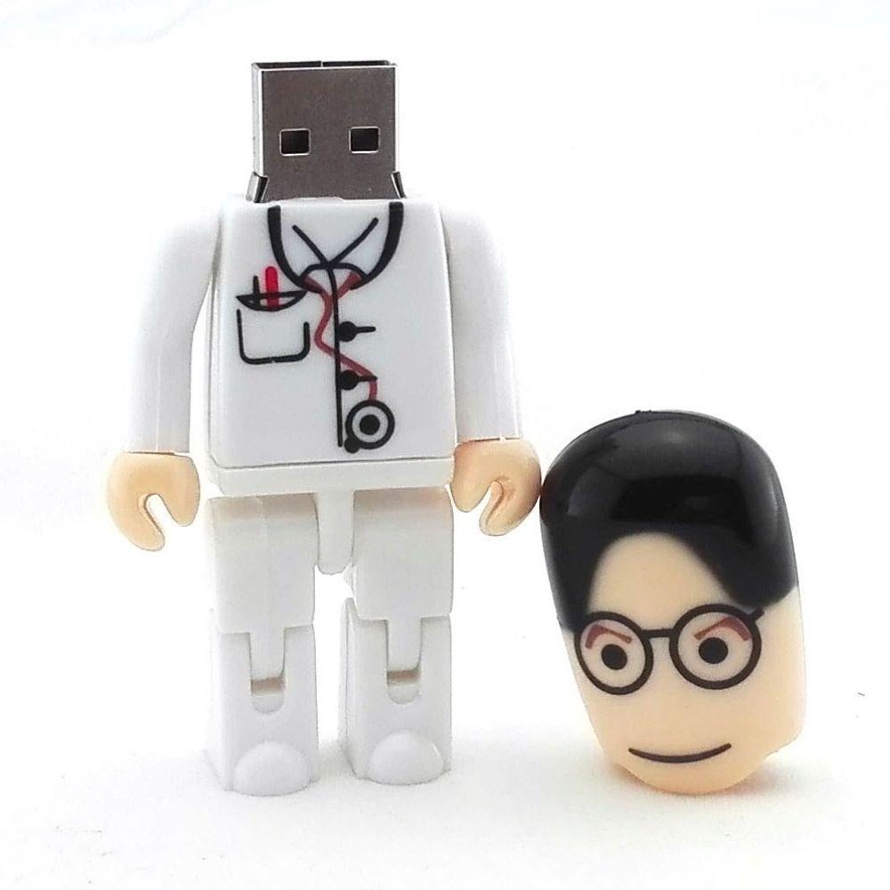 8 Gb 16 Gb 32 Gb Kartun Dokter Perawat Laki Laki Dokter Gigi Bentuk
