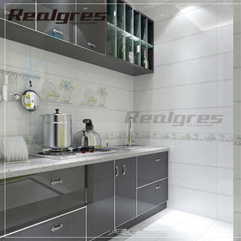 pure white gloss surface glazed ceramic tile for bathroom and