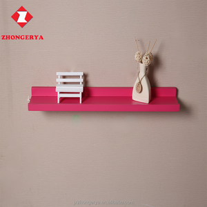 Selected colorful wooden floating picture display shelf,woodwares