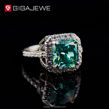 GIGAJEWE Green Moissanite Gemstone Engagement Rings Finger jewellery fashion jewellery silver ring
