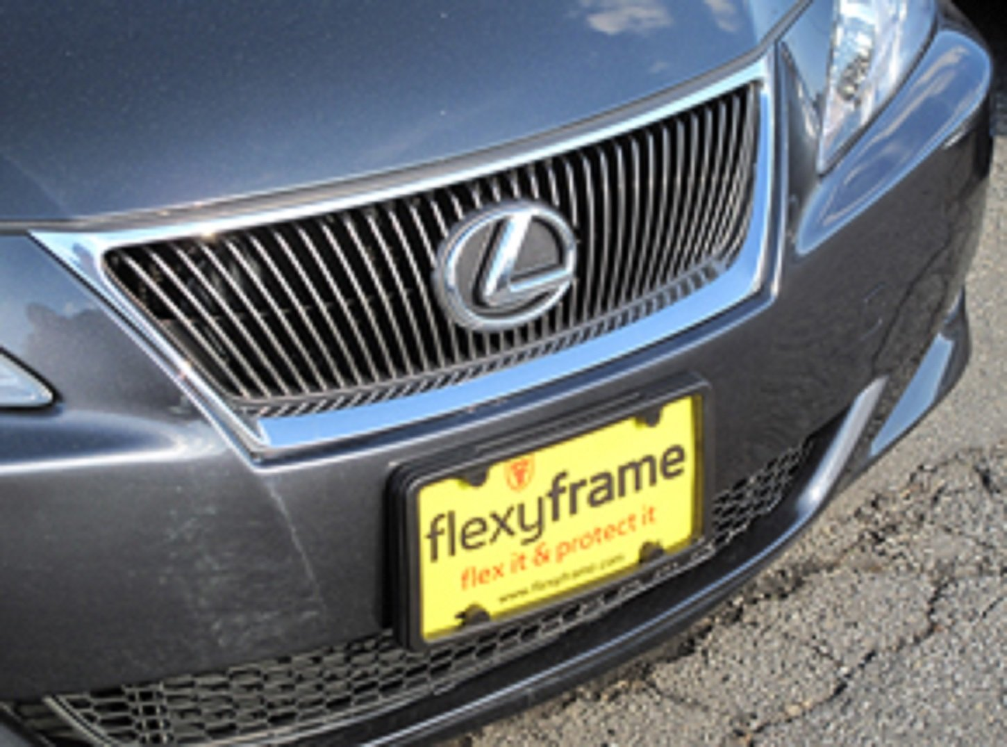 Get Quotations · A NASA Like Rubber Front License Plate Bracket Frame Tag  Holder Guard Bumper For LEXUS