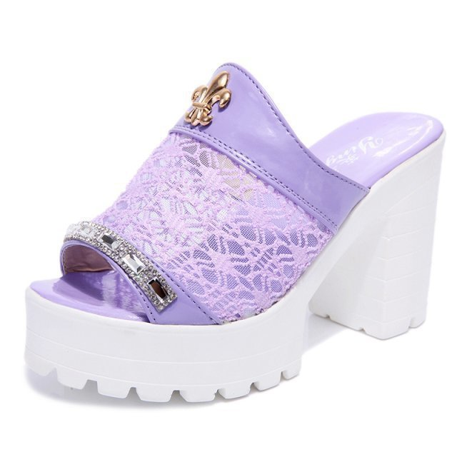 Peep toe Sandals 2015 Fashion Mesh Lace Shoes Hollow out Women Summer Boots Cool High Heels Sandals for Women Peep toe Sandals