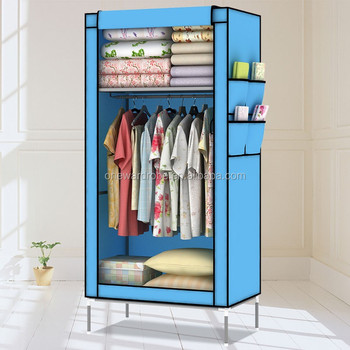 6fb9b4641d Small Compact Non-woven Fabric Cheap Bedroom Wardrobes - Buy ...