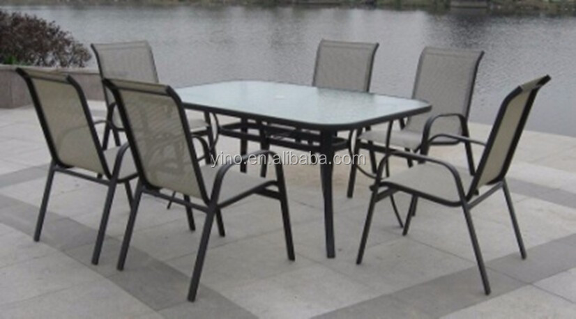 Outdoor picknick plastic stoelen terrasmeubilair tx qj 006 metalen stoelen product id - Leuningen smeedijzeren patio ...