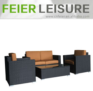 outdoor wicker furniture plastic 4pcs sofa set