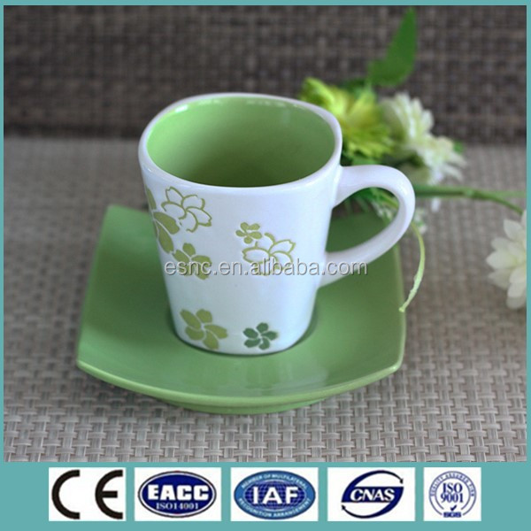 promotion luxury ceramic arabic tea cup set