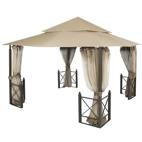 Garden Winds Replacement Canopy for the Harbor Gazebo - Riplock 350 Performance Fabric