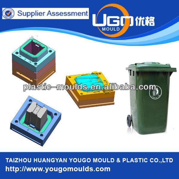 classifiable Plastic injection waste bin moulds with wheels