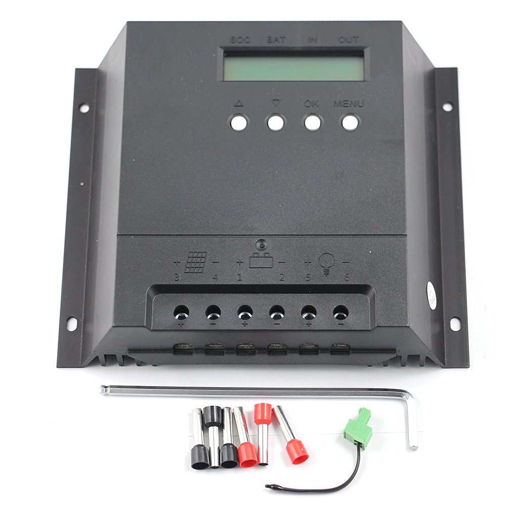 Y-SOLAR Solar Charge Controller 30A/40A/60A for 12V/24V Solar System (60A)