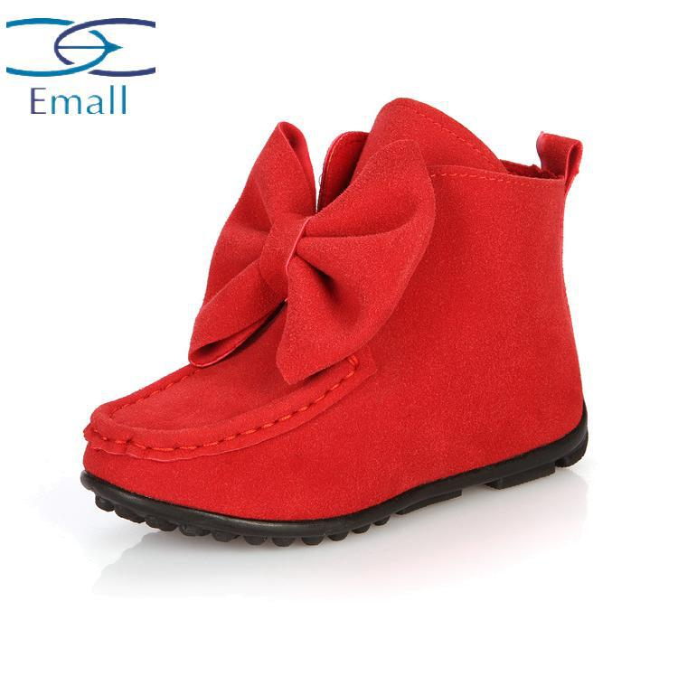 7ab5a370cf4a Get Quotations · New selling children shoes winter shoes big bow girls  shoes boots leather baby girls boots casual