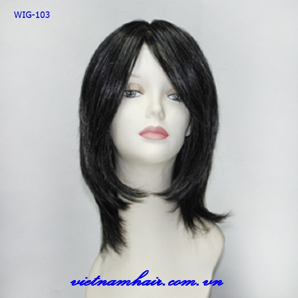 100% Vietnam virgin hair front lace wig & full lace human hair wig with bangs natural hairline for black women