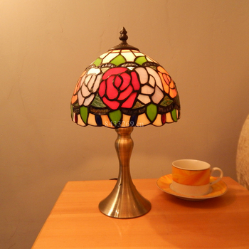 handmade lamp 8inches tiffany style stained glass desk lamp for home decoration