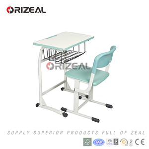 Modern stainless steel frame single school desk chair for sale