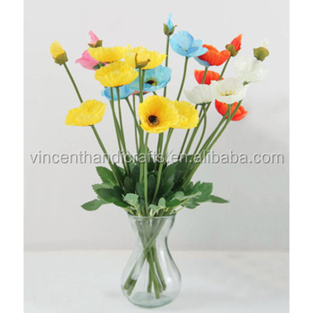 Artificial Craft Mini Silk Poppy Flowers Bouquet Fake Flower
