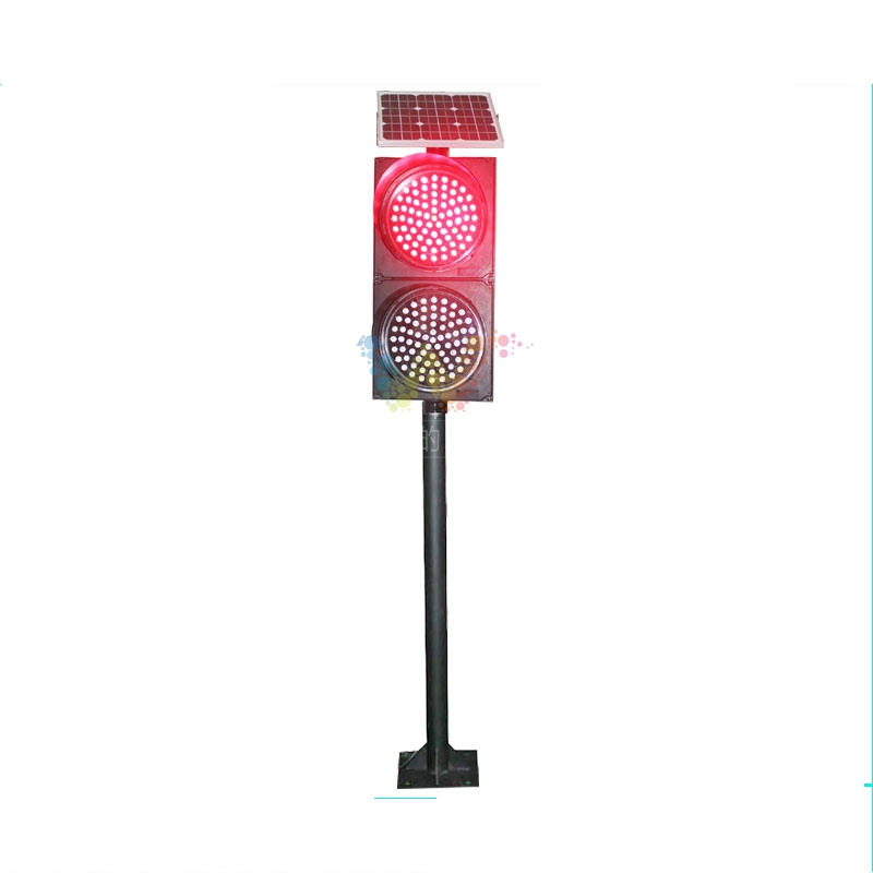WDM Manufacturer New 300mm Red Green Solar Remote Control Portable Roadway Traffic Light