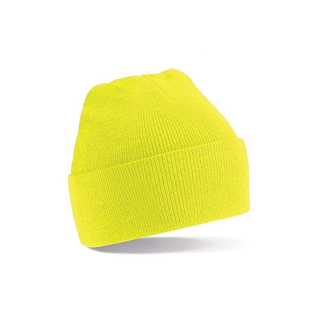 5678efcb Get Quotations · Mens / Womans knitted woolly beanie winter warm ski ribbed  turn up hat
