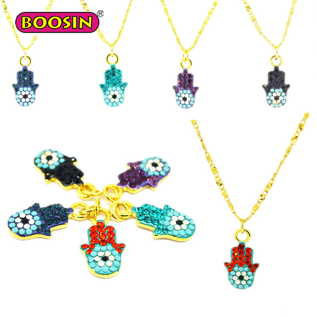 Latest Fashion Trends Crystal Evil Eye Necklace for Women Jewellery