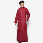 2017 new custom design fashion abaya for men wholesale muslim long dress abaya cotton men abaya