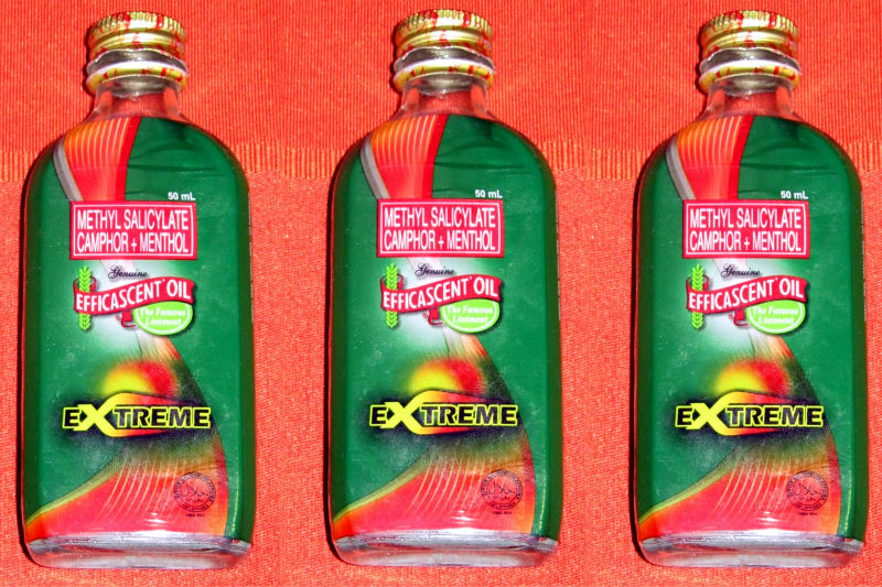 3 Efficascent Oil Extreme Liniment Rheumatism, Arthritis Joints