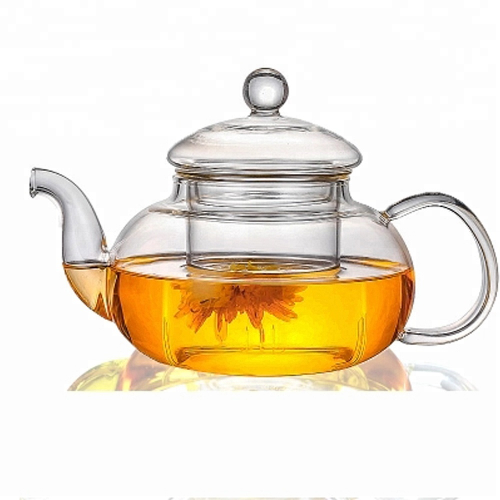 800ml Best Seller Teaware Ultra Clear Borosilicate Glass Tea Pot with Infuser for Blooming Tea