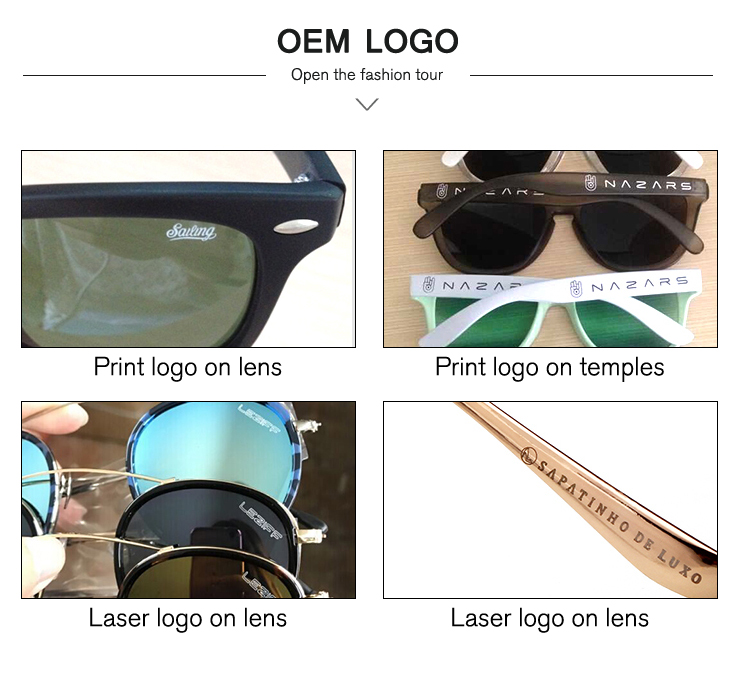 OEM Shades Fashion UV400 High Quality Metal Hinge Round Vintage Men Sports Square Custom Polarized Oversized Colorful Sunglasses