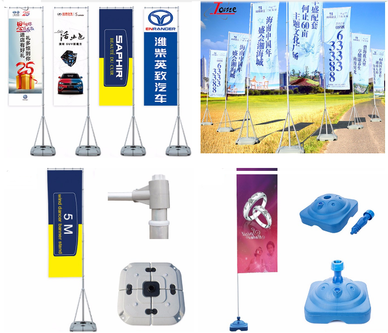 Wholesale 5 Meters Outdoor Water Flooding Flagpole Flag