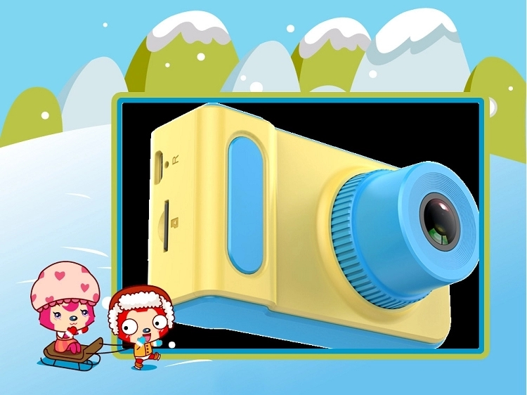 019 Best New Child Cartoon small toy 1080P Children Game kids digital camera for Birthday Party Christmas Gift