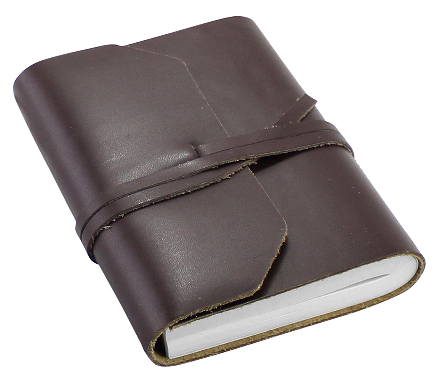 Leather Journal Travel Notebook - Handmade Italian Style Writing Travelers Diary For Men and Women To Write In - Plain Unlined Pages, 3.5 x 5 Inches