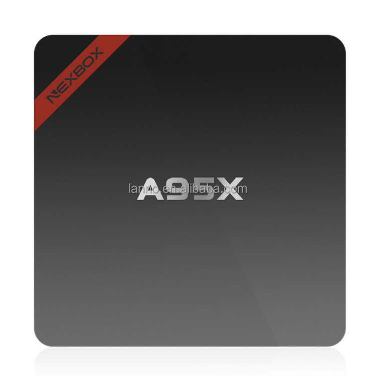 NEXBOX A95X <strong>TV</strong> <strong>Box</strong> Android 6.0 <strong>Amlogic</strong> S905X Quad Core 64Bit K-di 1/2GB RAM 8/16GB ROM 4K 2K H.265 2.4GHz WiFi KODI Set Top Bo