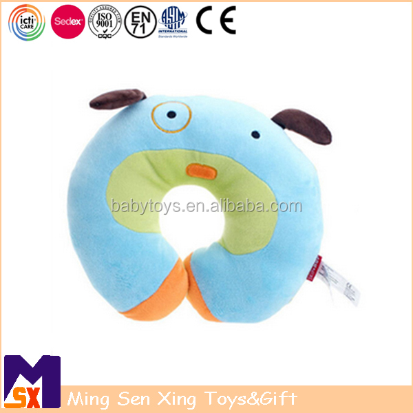 Custom Stuffed Plush Dog Travel Neck Pillow for Children