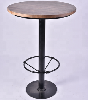Merveilleux Metal Cheap Round Pinewood Top High Bar Table