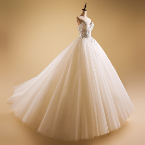 WD014 Sweetheart Strapless China Factory Custom Wedding Dress For Bridal