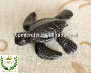 cast iron turtle figurine