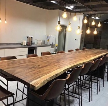 Industrial furniture modern live edge slab Solid Walnut Wood Restaurant  Dining Table, View dining table, ID Product Details from Wuxi Ideal  Furniture