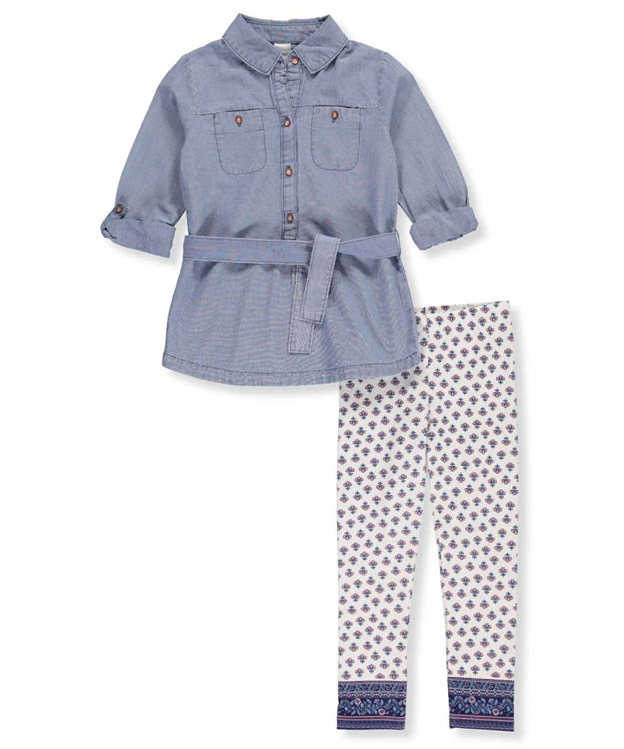 a70940b395 Get Quotations · Carter s Girls  4-8 2 Piece Chambray Tunic and Leggings Set