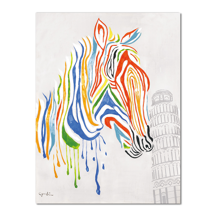 Colorful zebra modern oil painting print home decoration Home Goods Wall Art Canvas Painting Horse Animal