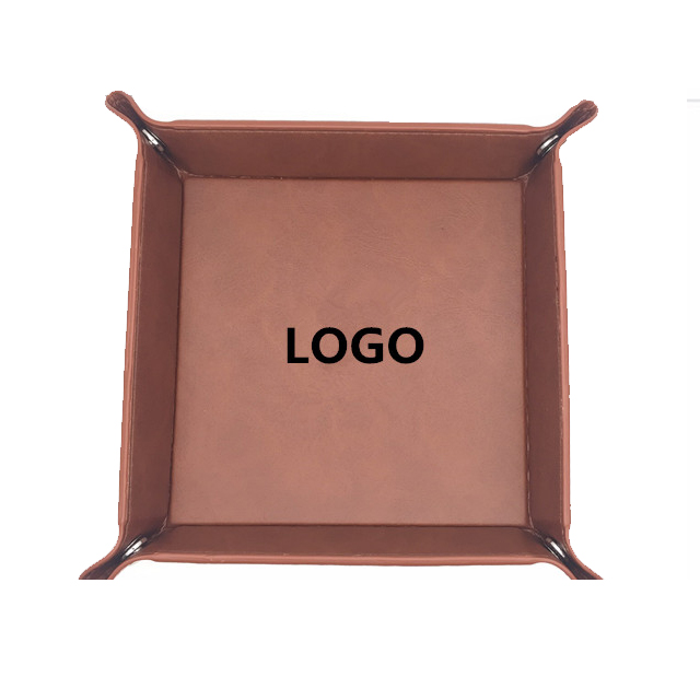 Custom LOGO printed PU leather serving trays